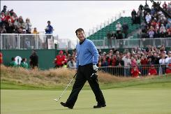 Just one week after losing the British Open to Stewart Cink in a playoff, Tom Watson begins play in the Senior British Open at Sunningdale.