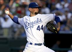 Kansas City Royals starting pitcher Luke Hochevar struck out 13 Texas Rangers batters en route to a 6-3 win. 