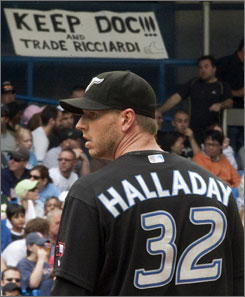 "There are so many trade rumors involving Blue Jays ace Roy Halladay, general manager J.P. Ricciardi can't keep up. ""People are making things up,"" he says."