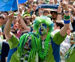 The Seattle Sounders' large fanbase has pushed the team to the top of the MLS in attendance and merchandise sales.