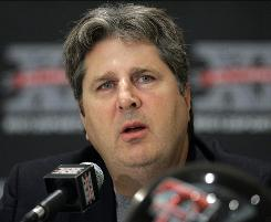 At Big 12 Media Day on Wednesday in Irving, Texas, Texas Tech football coach Mike Leach said the team would not have a letdown this season despite the losses of Graham Harrell and Michael Crabtree.