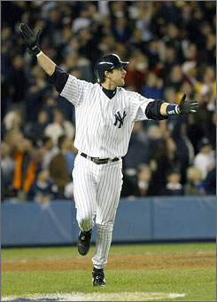 Aaron Boone's homer eliminated the Red Sox in the 2003 ALCS.