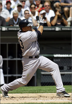 Melky Cabrera, shown here hitting a three-run home run in the second inning, became the 15th Yankees player and their first in 14 years to hit for the cycle.
