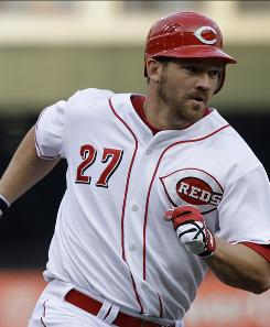 Reds third baseman Scott Rolen rounds the bases after hitting a two-run home run off in the second inning Wednesday night.