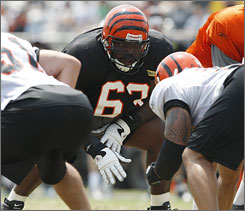 Bobbie Williams is the only offensive lineman who has locked down a safe spot early in Bengals training camp.