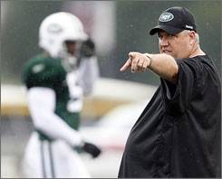 Rex Ryan brought the Jets north to Cortland, N.Y., for their first training camp off of Long Island for the first time in 40 years.