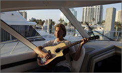 "Reds pitcher Bronson Arroyo, shown aboard his yacht in spring training, says of his willingness to talk about his supplement use: ""I do what I want to do and say what I want to say. ... I've always been honest."""