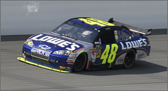 Jimmie Johnson ran out of fuel two laps from the finish Sunday at Michigan International Speedway after leading 146 laps. He finished 33rd.