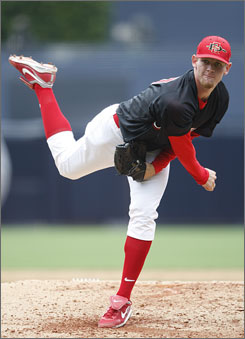 """Stephen Strasburg, the No. 1 overall draft pick from San Diego State University, has been offered a record-breaking major league contract by the Nationals. But Nationals president Stan Kasten acknowledged Saturday there is a """"very real possibility"""" the team and Strasburg will not reach an agreement."""