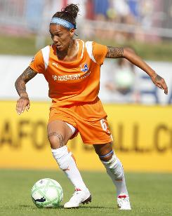 Sky Blue FC forward Natasha Kai is shaking off shoulder injuries to inspire her team's offense.
