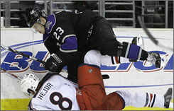 Dustin Brown's scoring ability and prickly playing style make him a candidate for the U.S. Olympic team.