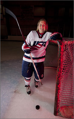 American hockey player Kendall Coyne, 17, is looking for a spot on the 2010 Olympic Team.