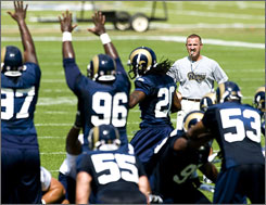 Rams head coach Steve Spagnuolo took over a team that won just five games in the last two seasons combined.