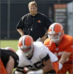 Browns coach Eric Mangini has refused to engage former players who were critical of his methods when he was coach of the New York Jets.