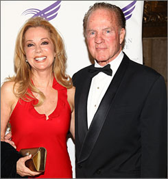 Frank Gifford is shown with wife Kathie Lee Gifford in New York this past June. A former broadcaster on Monday Night Football, Gifford prefers the franchise's coverage during the ABC years.