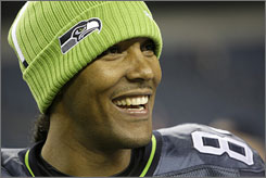 T.J. Houshmandzadeh is all smiles now that he's the No. 1 option for Matt Hasselbeck's offense with the Seattle Seahawks.
