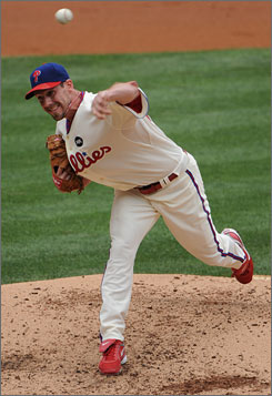 Cliff Lee has gone 5-0 with a 0.68 ERA in five starts for the Phillies.
