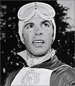 In 1956, Toni Sailer made Olympic history by becoming the first skier to win all three Alpine events when he found gold at the Winter Games in Cortina d'Ampezzo, Italy.