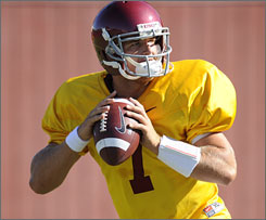 Southern California's Matt Barkley won the starting quarterback job after Aaron Corp went down with injury.