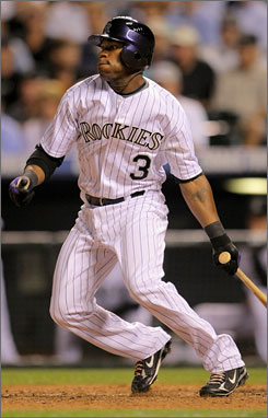 Rockies' rookie Eric Young Jr. was called up Tuesday and delivered his first major league hit, going 1-for-4 in his debut.