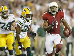 Larry Fitzgerald has had two consecutive seasons with more than 1,400 yards receiving.