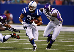 The Colts drafted Donald Brown to provide relief to Joseph Addai in the backfield.