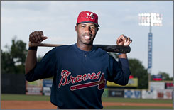 Jason Heyward, the USA TODAY Minor League Player of the Year, is projected to join the Braves next season.