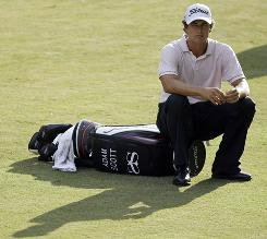 Adam Scott of Australia struggled throughout the season on the PGA Tour and did not advance in the playoffs.
