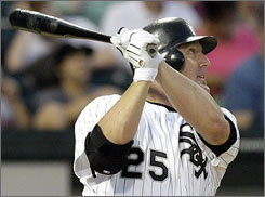 Jim Thome will come off the bench almost exclusively for the Dodgers after nearly four seasons as White Sox designated hitter.