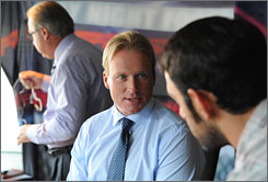 After being fired by the Bucs in January, Jon Gruden joined ESPN as an analyst on 'Monday Night Football.'