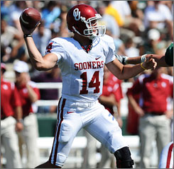 Oklahoma quarterback Sam Bradford will match his throwing ability with Brigham Young's Max Hall in the opener.
