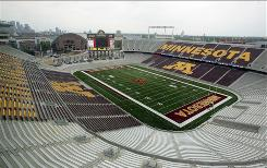 Minnesota fans won't have to trek to downtown Minneapolis to watch their Golden Gophers. The team opens TCF Bank Stadium on Saturday.