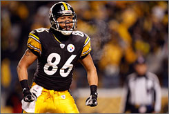 """Hines Ward was drafted by Pittsburgh in 1998 and has remained with the franchise for his entire career. """"We're not the flashiest,"""" he says. """"We just go about our business and continue to put up wins and see if we can make another run at a Super Bowl."""""""