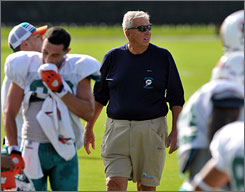 Bill Parcells, who oversaw the Dolphins' 10-win improvement last year, has a history of leaving franchises in better shape than when he arrived.