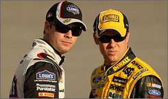 Jimmie Johnson, left, said he doubts orders from above will come into play at Richmond, potentially compromising the position of 12th-place Matt Kenseth in the Chase pecking order.