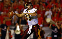 Central Michigan quarterback Dan LeFevour guided the Chippewas to a last-second win at Michigan State.