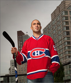 Traded Scott Gomez is leaving the bright lights of New York for the pressure of Montreal.