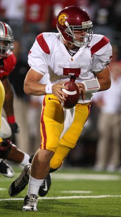 True freshman QB Matt Barkley may sit out during next week's USC game against Washington. Last week, Barkley helped lead the Trojans to a win over the Ohio State Buckeyes.