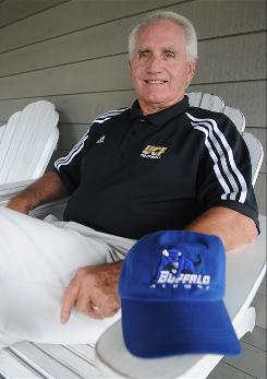 Gerry Gergley, one of the players on the 1958 University of Buffalo football team, helped plan Central Florida's first football team.