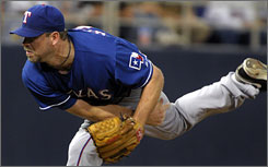 Texas Rangers starting pitcher Kevin Millwood, pitching against the Twins Aug. 30, is 2-5 in his last 12 starts.