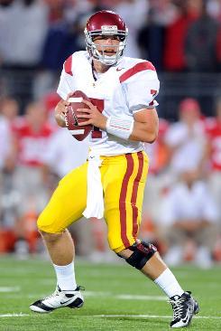 USC quarterback Matt Barkley is one of a handful of freshman QBs having strong seasons thus far.