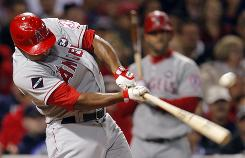 Howie Kendrick's RBI single in the ninth inning Thursday lifted the Angels past the Red Sox 4-3 at Fenway Park in Boston.