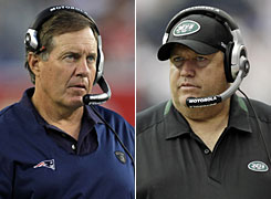 Bill Belichick has remained largely quiet about the rivalry with the Jets while his new counterpart, Rex Ryan, has brashly upped the hype from his side.
