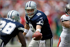 Cowboys QB Tony Romo threw for a career-high 353 yards in a Week 1 win against Tampa.