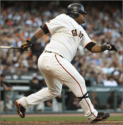 """Pablo Sandoval says teammate Bengie Molina has helped him: """"Last year when I was catching frequently, we developed a relationship like a father and son."""""""