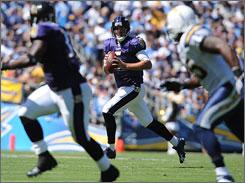 Ravens QB Joe Flacco, in his second season, has thrown five touchdown passes in the team's 2-0 start.
