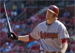 Diamondbacks third baseman Mark Reynolds has struck out over 200 times in both of the last two seasons.