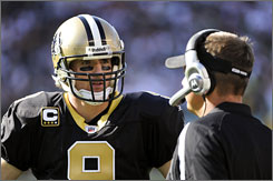Through two games, Saints QB has set a pace to throw 72 touchdowns this season.