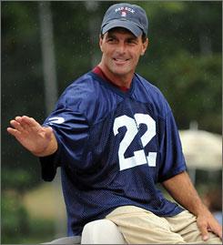 College quarterback doug flutie waves during the college football hall