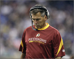 Redskins coach Jim Zorn is under fire after his team stumbled to a 1-2 start, including a loss in Deeoit